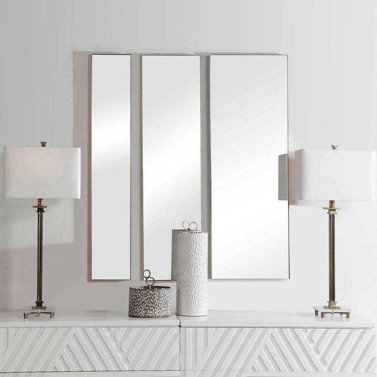 Rowling Gold Mirrors Set/3 - Size: 119H x 41W x 3D (cm)