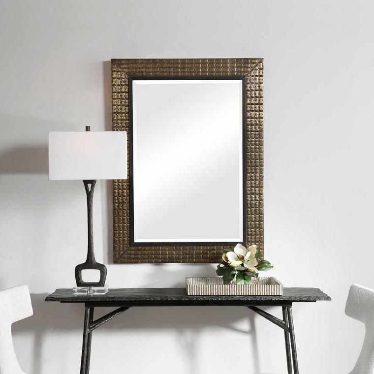 Palo Brass Mirror - Size: 118H x 88W x 4D (cm)