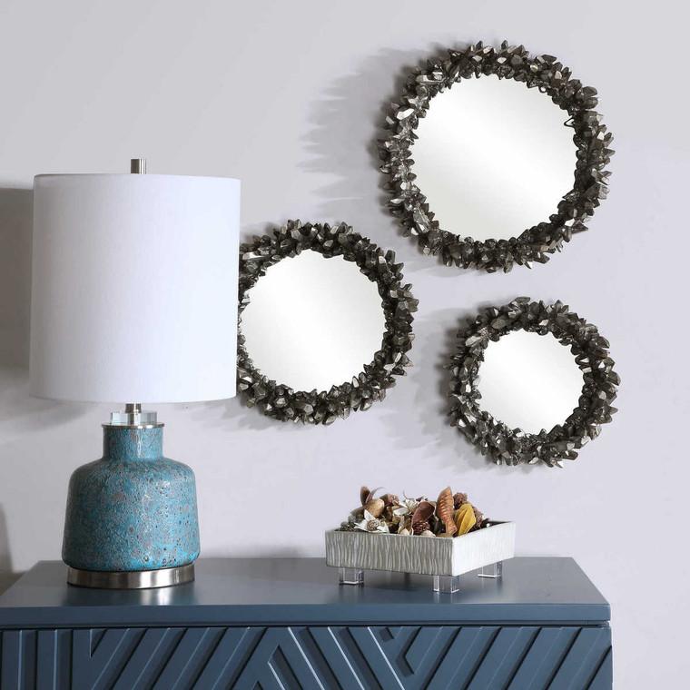 Galena Round Mirrors Set/3 - Size: 42H x 42W x 8D (cm)