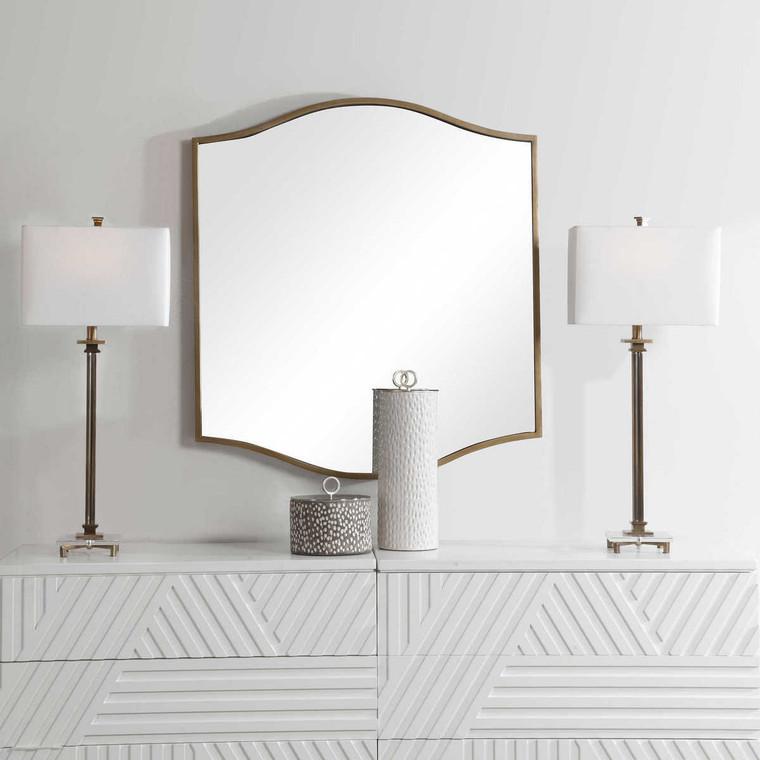 Cerise Gold Mirror - Size: 104H x 91W x 4D (cm)