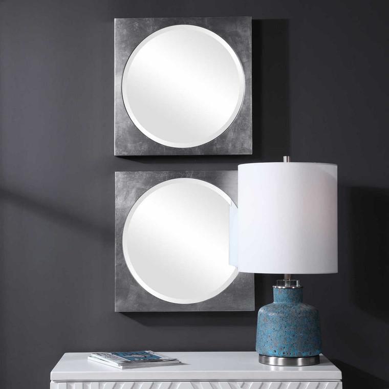 Aletris Modern Square Mirrors Set/2 - Size: 50H x 50W x 6D (cm)