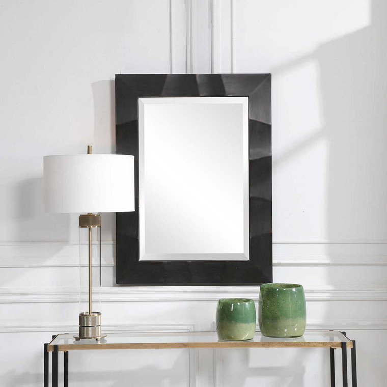 Fulcher Dark Bronze Mirror - Size: 102H x 76W x 4D (cm)