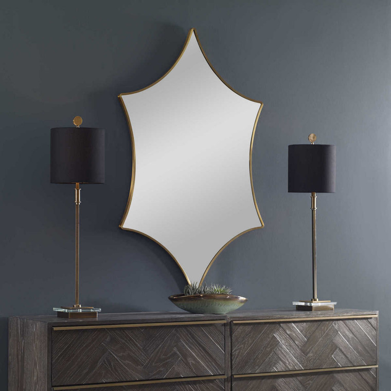 Aries Gold Mirror - Size: 129H x 78W x 2D (cm)