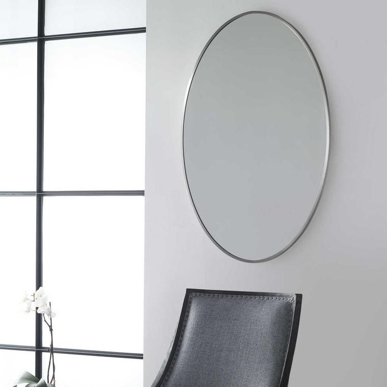 Williamson Oval Mirror - Size: 93H x 63W x 2D (cm)
