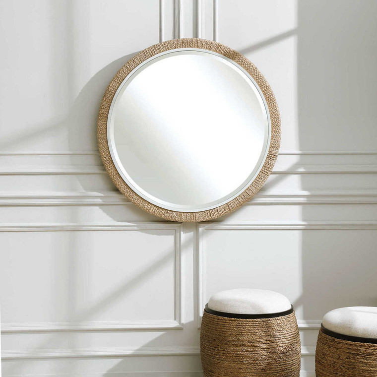 Carbet Round Rope Mirror - Size: 101H x 101W x 5D (cm)