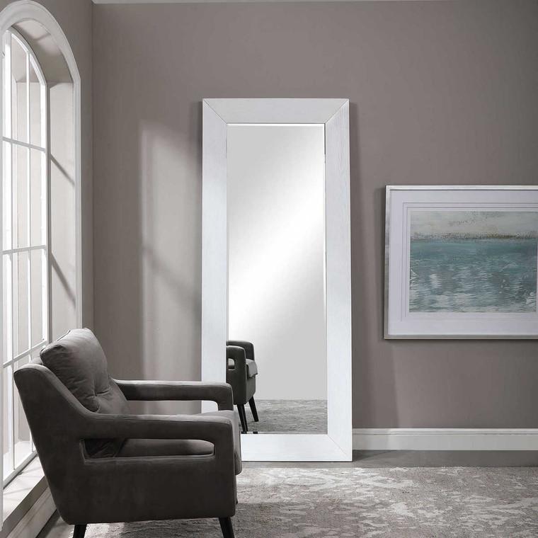 Tybee White Oak Leaner Mirror - Size: 206H x 85W x 6D (cm)