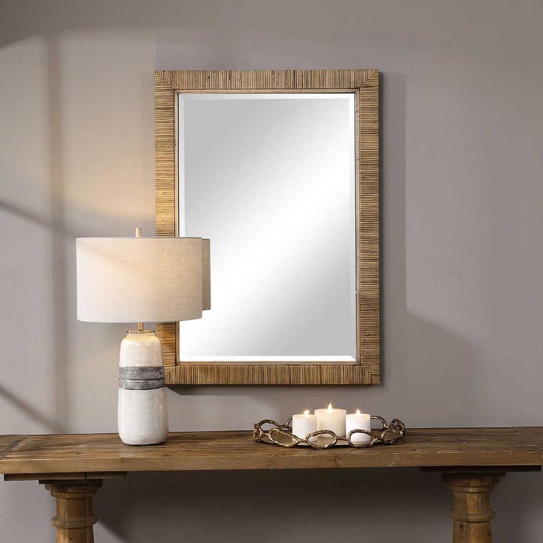 Cape Natural Rattan Mirror - Size: 104H x 73W x 5D (cm)