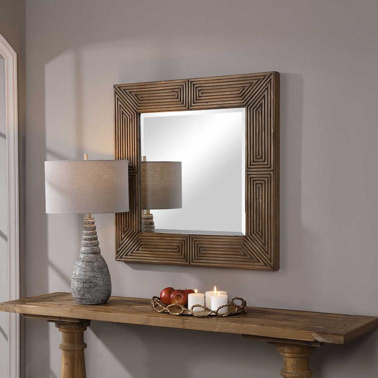 Traveller Square Mirror - Size: 91H x 91W x 5D (cm)
