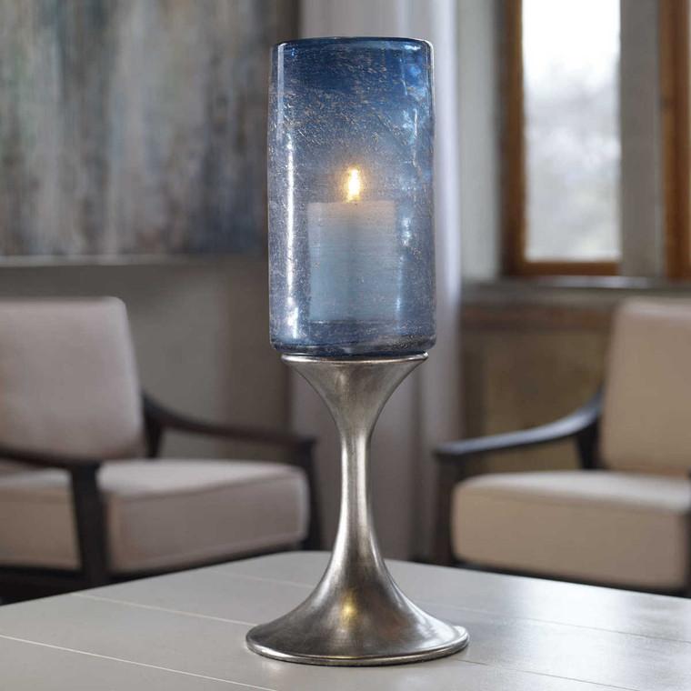 Gallah Blown Glass Candleholder - Size: 51H x 19W x 19D (cm)