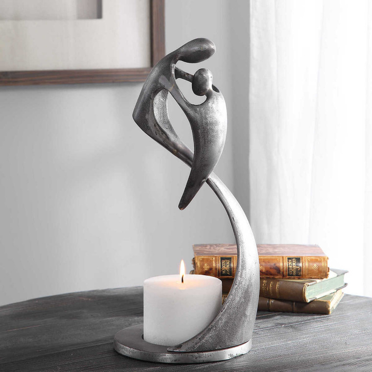 Leading The Way Candleholder - Size: 39H x 19W x 18D (cm)