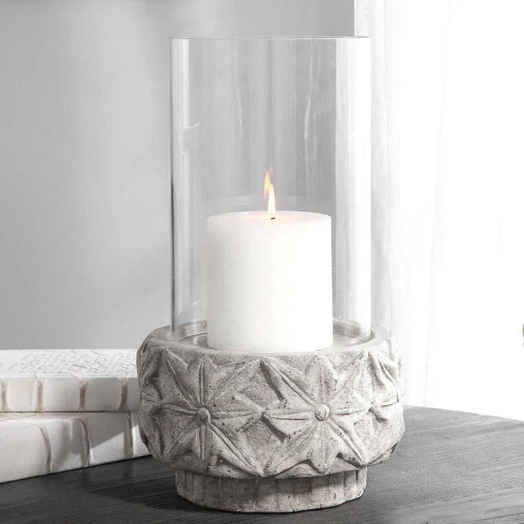 Capistrano Concrete Candleholder - Size: 46H x 27W x 27D (cm)