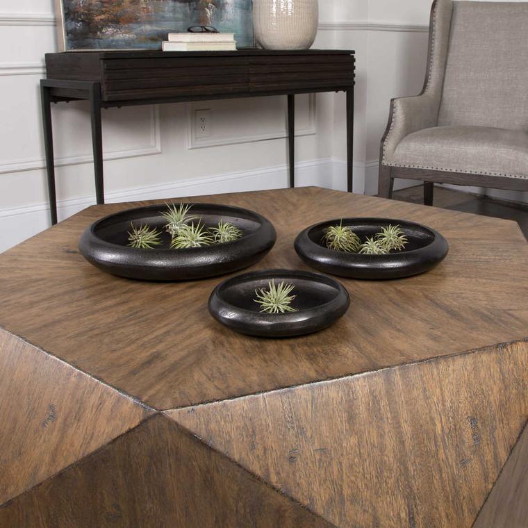 Roderick Round Trays Set/3 - Size: 7H x 36W x 36D (cm)