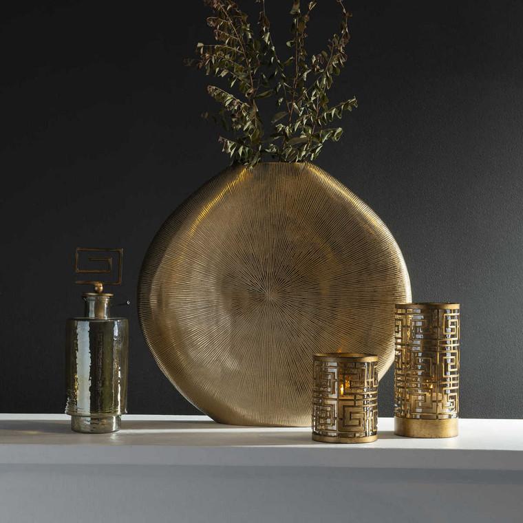 Gretchen Gold Vase - Size: 56H x 58W x 10D (cm)