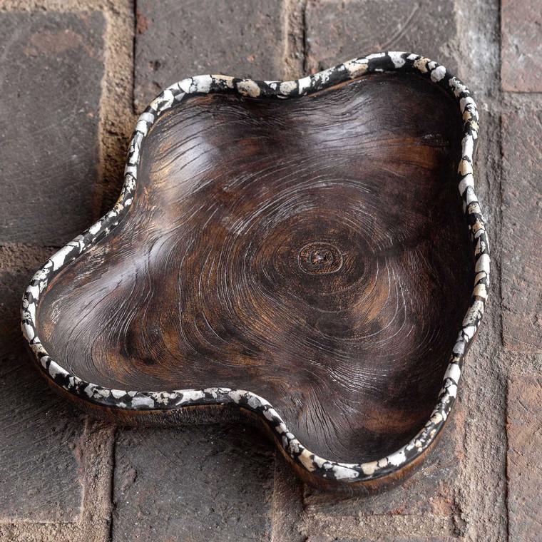 Chikasha Wooden Bowl - Large - Size: 7H x 38W x 32D (cm)