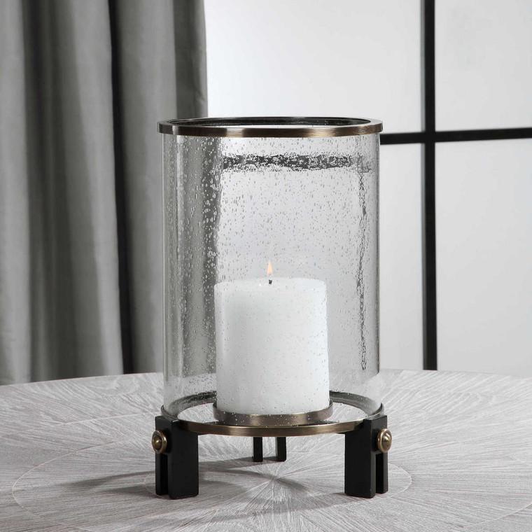Faraday Hurricane Candleholder - Size: 36H x 28W x 28D (cm)
