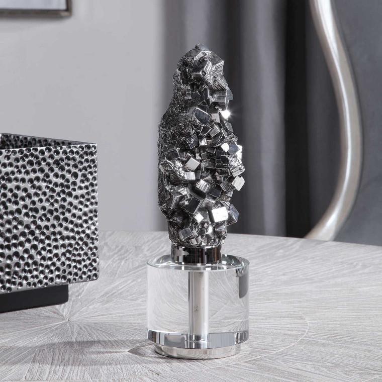 Pyrite Sculpture - Size: 31H x 11W x 11D (cm)