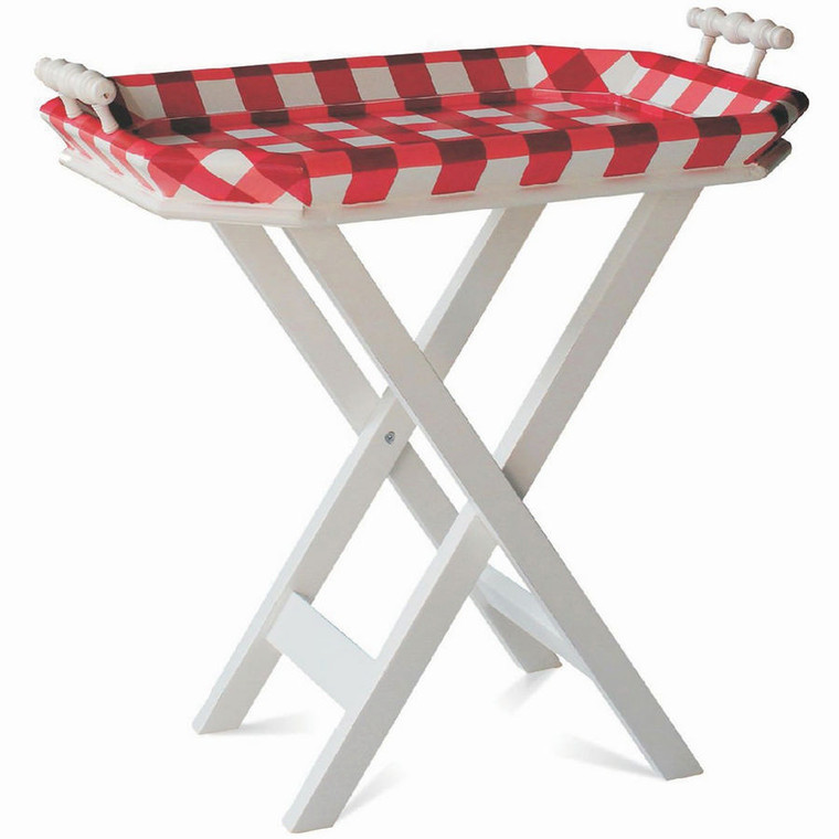 Summertime Tea Table w/ Tray - Size: 80H x 86W x 51D (cm)