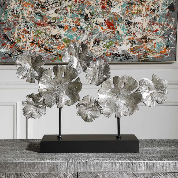 Contemporary Lotus Sculpture - Size: 46H x 67W x 13D (cm)
