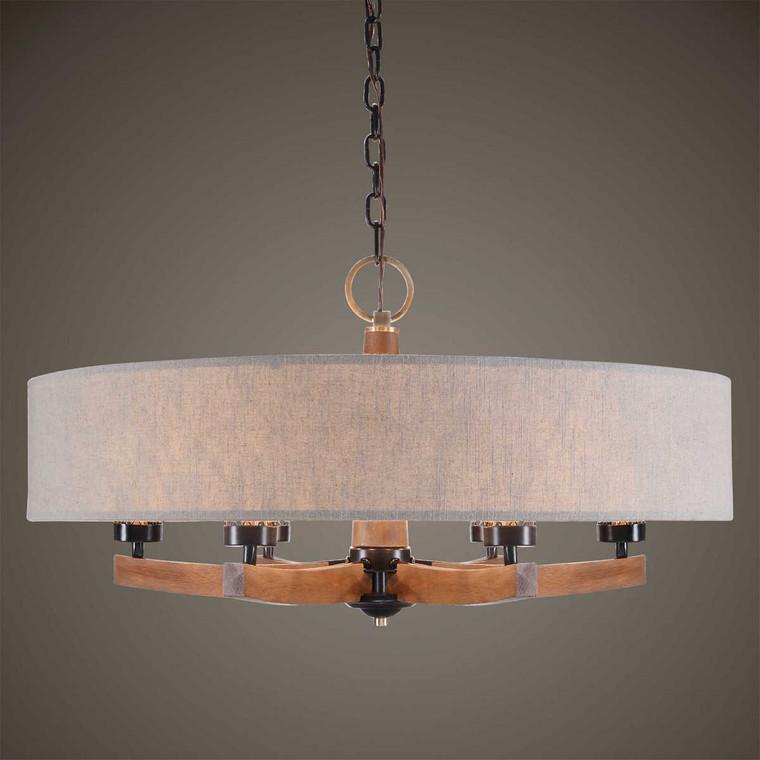 Woodall 6 Light Drum Chandelier - Size: 49H x 90W x 0D (cm)