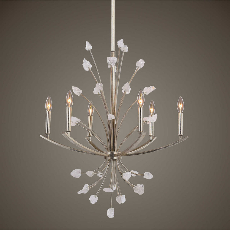 Juliette 6 Light Chandelier - Size: 80H x 68W x 68D (cm)