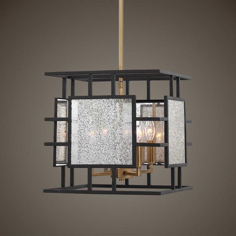 Holmes 4 Light Pendant - Size: 37H x 36W x 36D (cm)