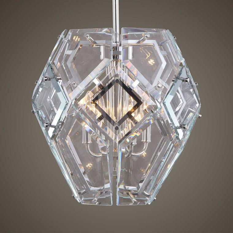 Noorvik 4 Light Geometric Pendant - Size: 41H x 43W x 43D (cm)