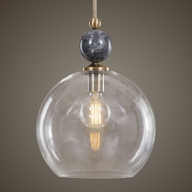 Mendota 1 Light Glass Pendant - Size: 48H x 35W x 35D (cm)