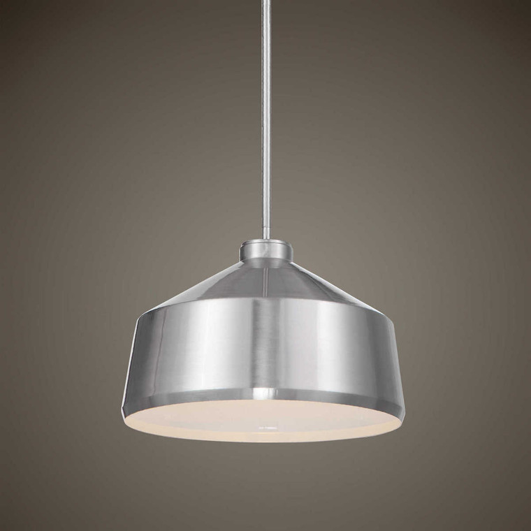 Holgate 1 Light Nickel Pendant - Size: 25H x 36W x 36D (cm)