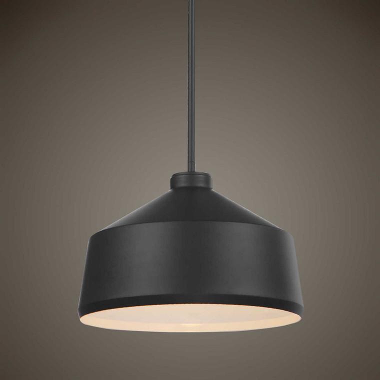 Holgate 1 Light Black Pendant - Size: 25H x 36W x 36D (cm)