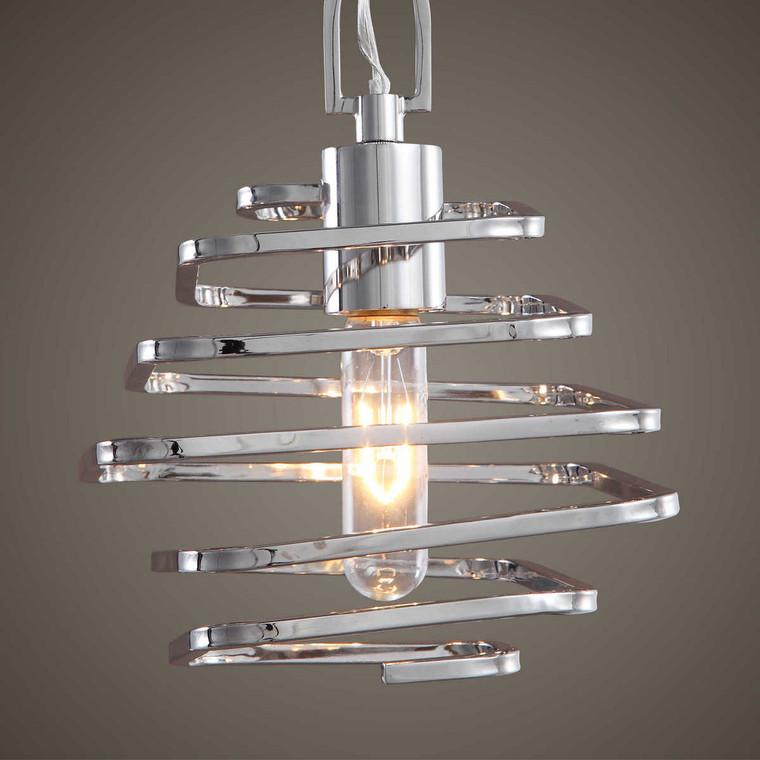 Coillir 1 Light Modern Mini Pendant - Size: 29H x 20W x 20D (cm)
