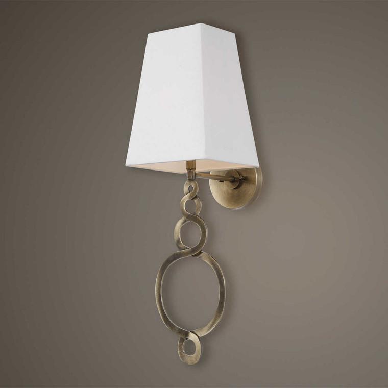 Brambleton 1 Light Brass Sconce - Size: 78H x 25W x 28D (cm)