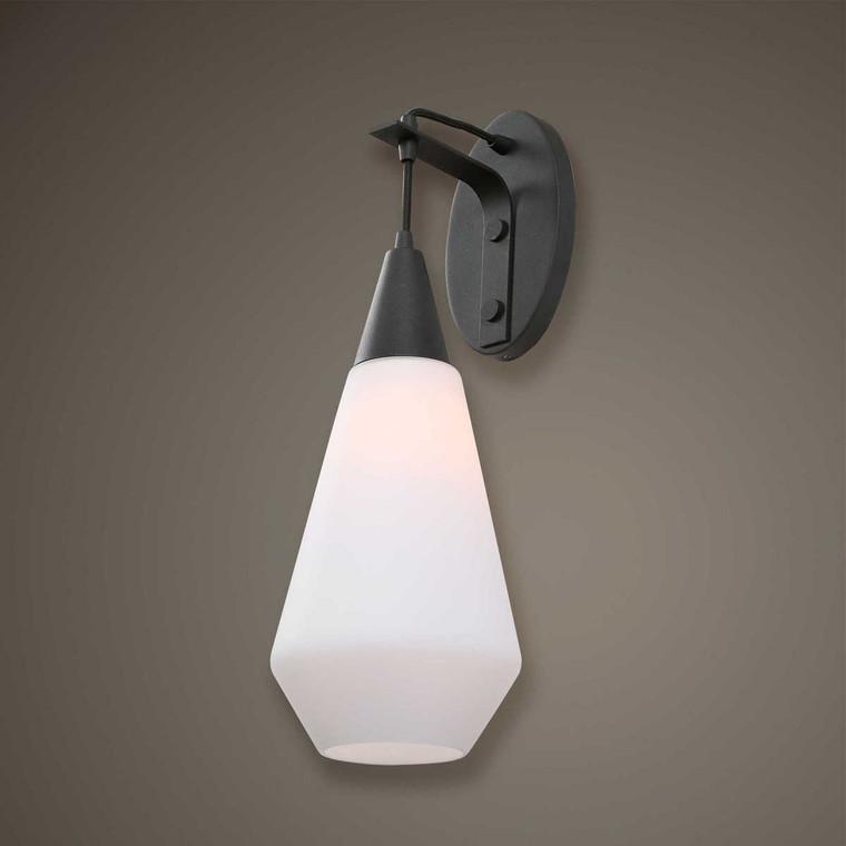 Eichler 1 Light Black Sconce - Size: 58H x 20W x 24D (cm)
