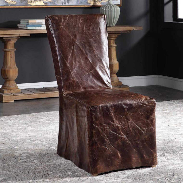Oaklyn Armless Chair Set/2 - Size: 102H x 48W x 64D (cm)