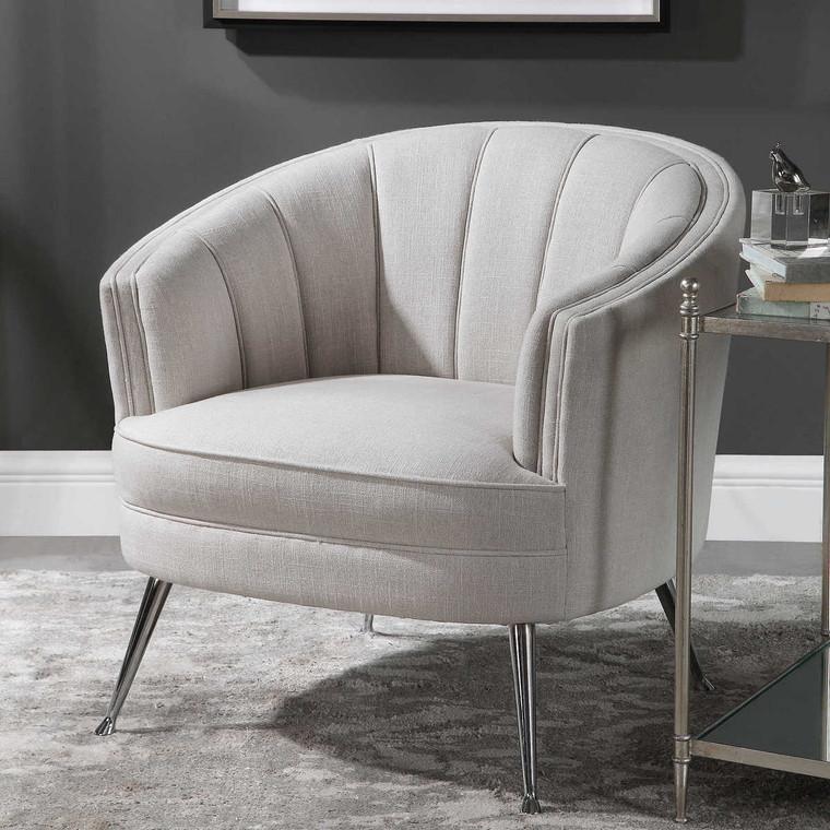 Janie Mid-Century Accent Chair - Size: 83H x 83W x 79D (cm)