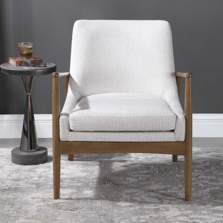 Bev White Accent Chair - Size: 80H x 69W x 79D (cm)