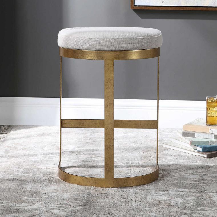 Ivanna Modern Counter Stool - Size: 66H x 46W x 37D (cm)