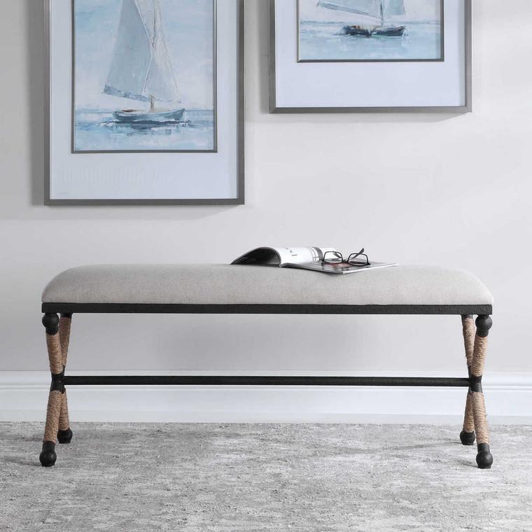 Firth Oatmeal Bench - Size: 54H x 121W x 41D (cm)