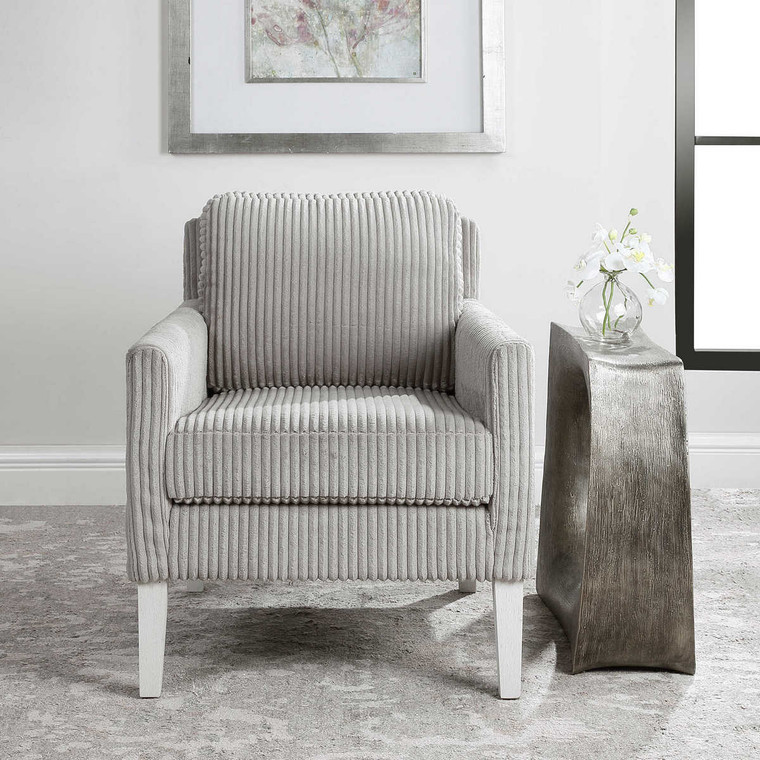 Cavalla Gray Accent Chair - Size: 81H x 71W x 84D (cm)