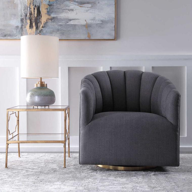 Cuthbert Modern Swivel Chair - Size: 82H x 79W x 81D (cm)