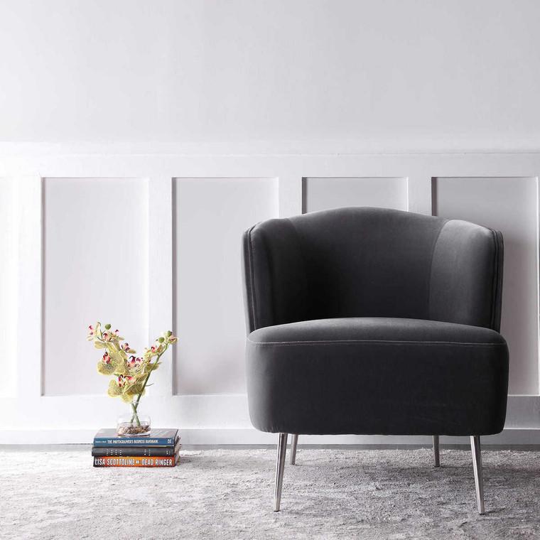Alboran Gray Accent Chair - Size: 76H x 71W x 76D (cm)