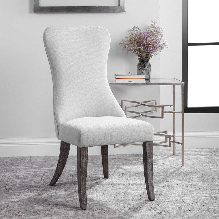 Caledonia Armless Chair - Size: 110H x 52W x 78D (cm)