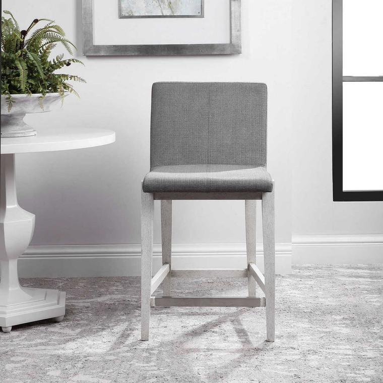 Brazos Gray Counter Stool - Size: 97H x 51W x 58D (cm)