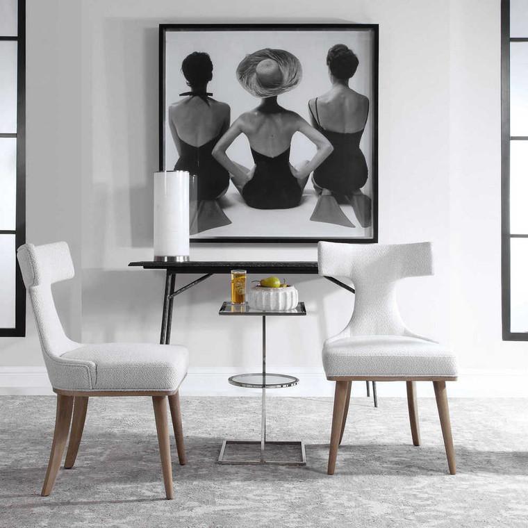 Klismos Accent Chair Set/2 - Size: 90H x 53W x 61D (cm)