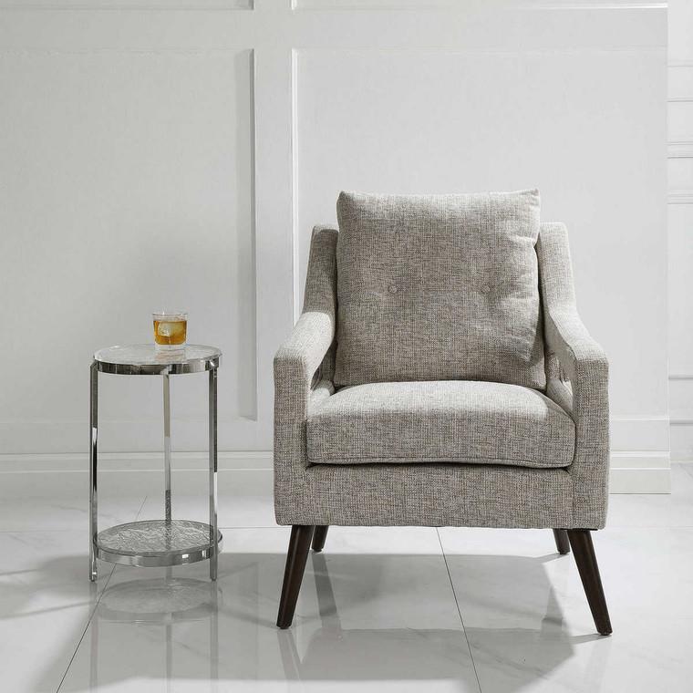 O'Brien Neutral Armchair - Size: 89H x 72W x 88D (cm)