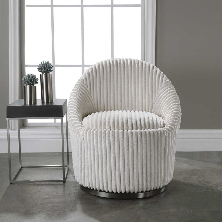 Crue Swivel Chair - Size: 81H x 71W x 79D (cm)