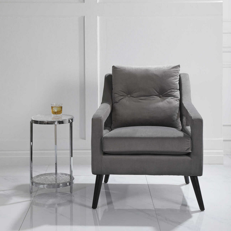 O'Brien Gray Armchair - Size: 89H x 72W x 88D (cm)