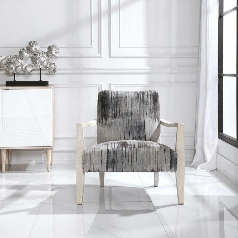 Watercolor Accent Chair - Size: 79H x 77W x 83D (cm)
