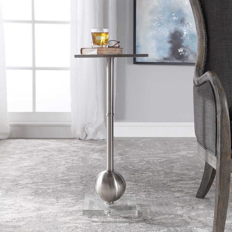 Laton Silver Accent Table - Size: 73H x 30W x 30D (cm)
