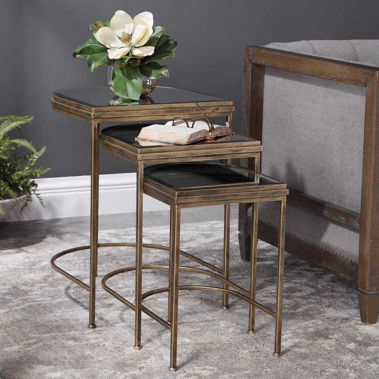 India Nesting Tables Set/3 - Size: 61H x 48W x 45D (cm)