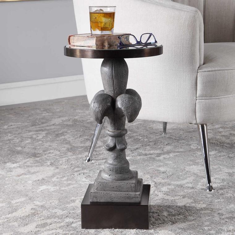 Francois Concrete Accent Table - Size: 55H x 30W x 30D (cm)